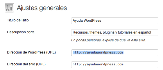 cambiar url de wordpress