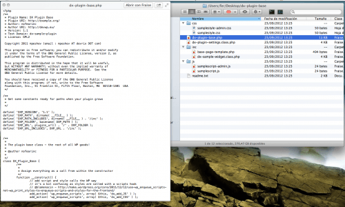archivos dx base plugin