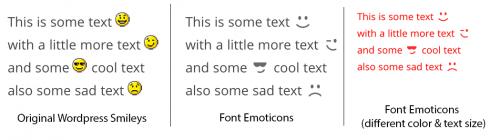 emoticonos wordpress comparacion