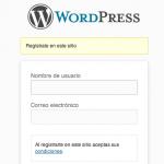 Añade texto a la pantalla de registro de WordPress