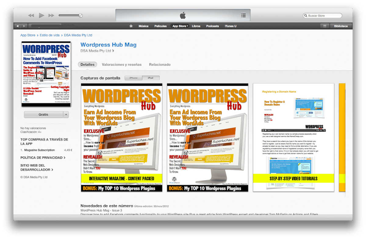 WordPress Hub, la revista sobre WordPress para iPad