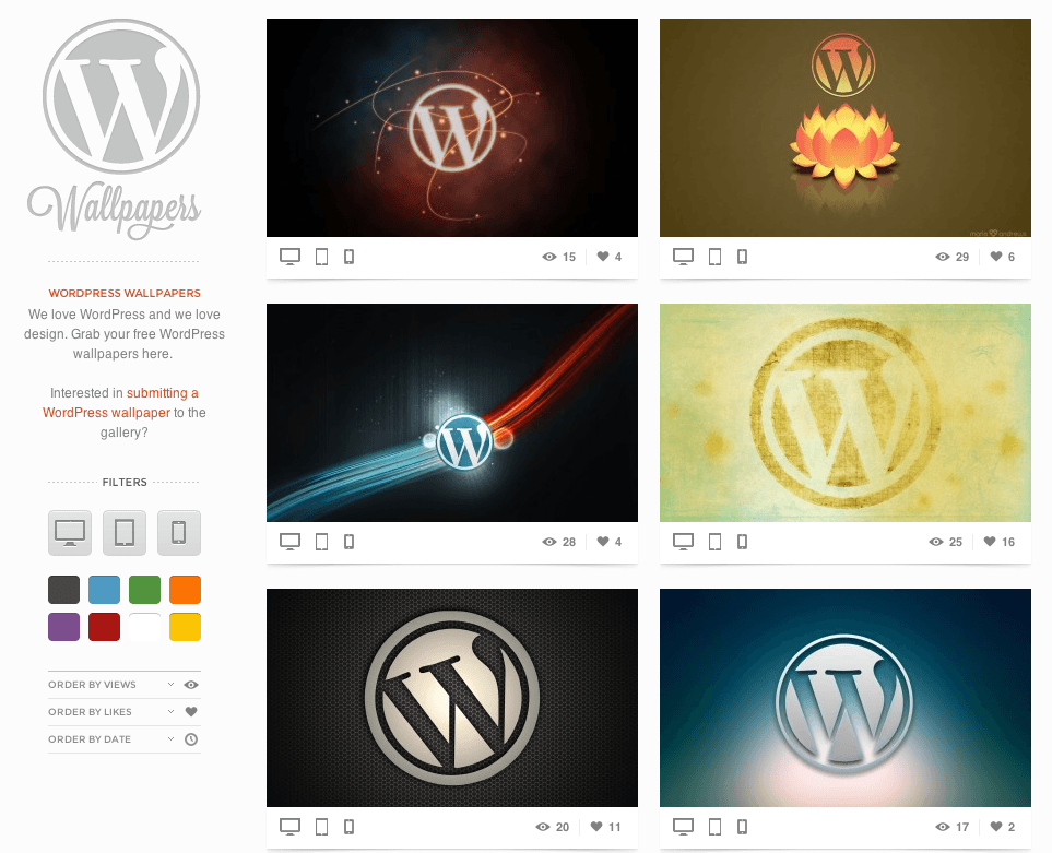 Fondos de pantalla WordPress