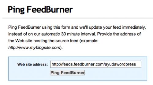 ping feedburner