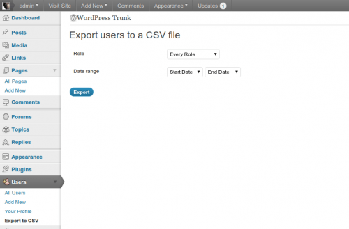 exportar usuarios wordpress csv