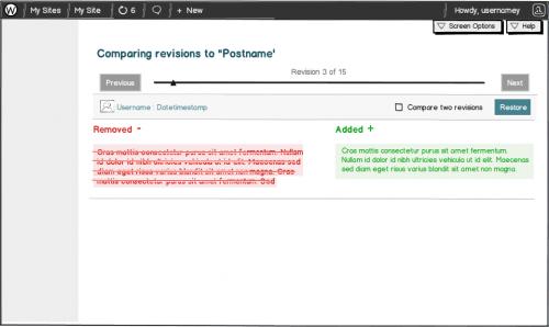 revisiones wordpress 3.6 primera interfaz