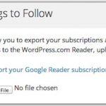 WordPress.com cómo sustituto de Google Reader