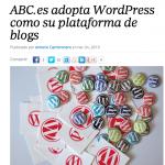 ABC.es pasa su plataforma de blogs a WordPress