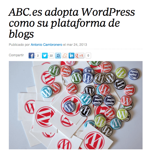 ABC.es pasa su plataforma de blogs a WordPress
