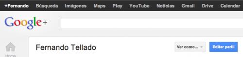google + editar perfil boton azul