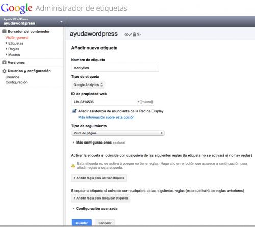 google tag manager wordpress 7