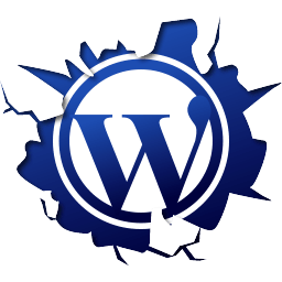 logo wordpress saliendo