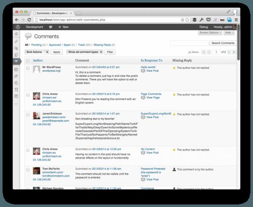 comentarios no respondidos en wordpress