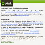 email exportar a bubok