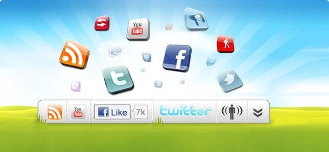 Barra social cómo la de Wibiya en WordPress