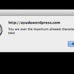 ventana error titulo wordpress