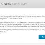 Encuesta WordPress 2013