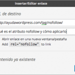 casilla nofollow enlaces wordpress