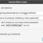 casilla nofollow enlaces wordpress