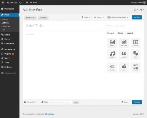Futuro editor WordPress (v 1)