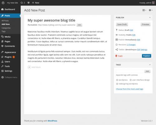 editor futuro wordpress 3.x icono añadir bloque
