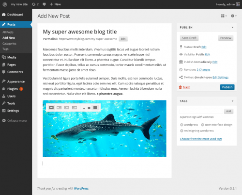 editor futuro wordpress 3.x iconos edicion imagenes