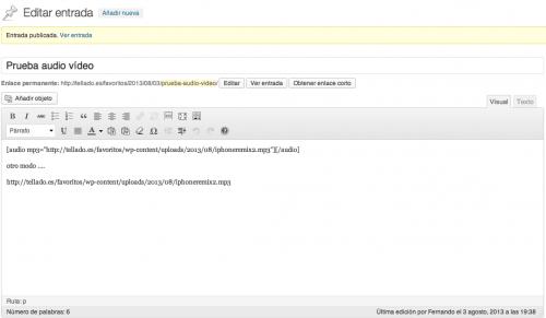 shortcode audio wordpress 3.6