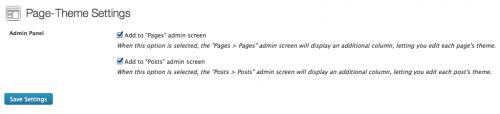 ajustes de page theme