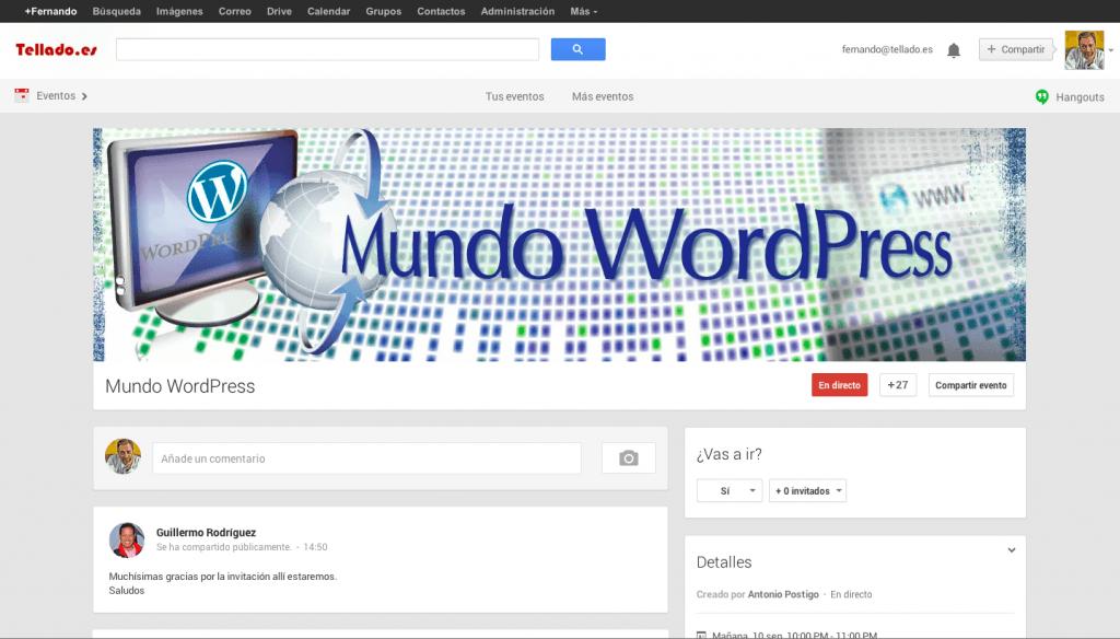 hangout wordpress