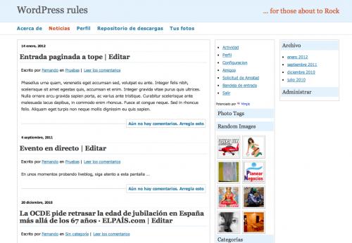 sección blog en web estática