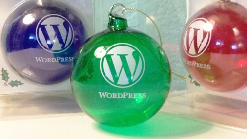 WordPress 16:9 Christbaumkugeln