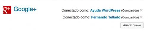 conexiones wordpress google+