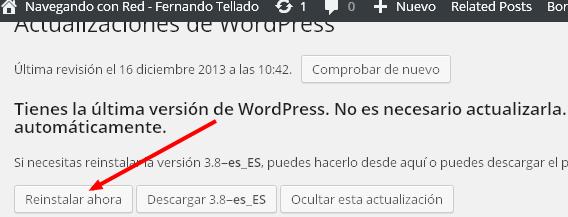 """Solucionado el error de versión """"3.800000unciona"""" de WordPress 3.8"""