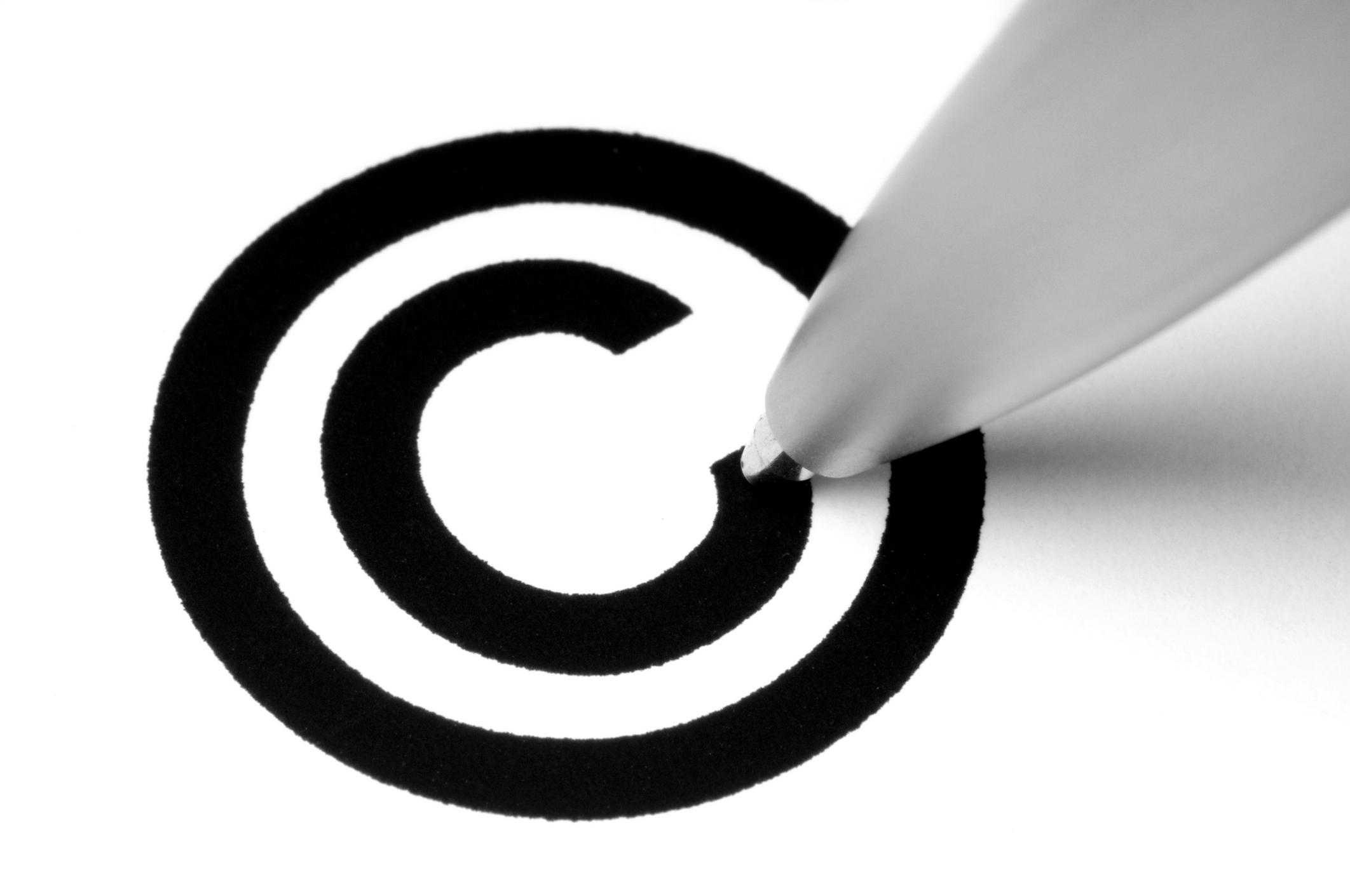 Mostrar un copyright completo