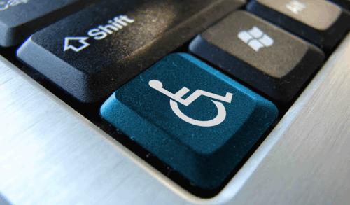 imagen de tecla con el logo de discapacitado