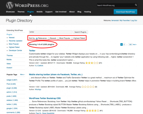 elegir plugin en wordpress