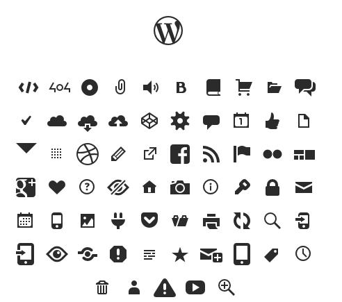 iconos de fuentes wordpress