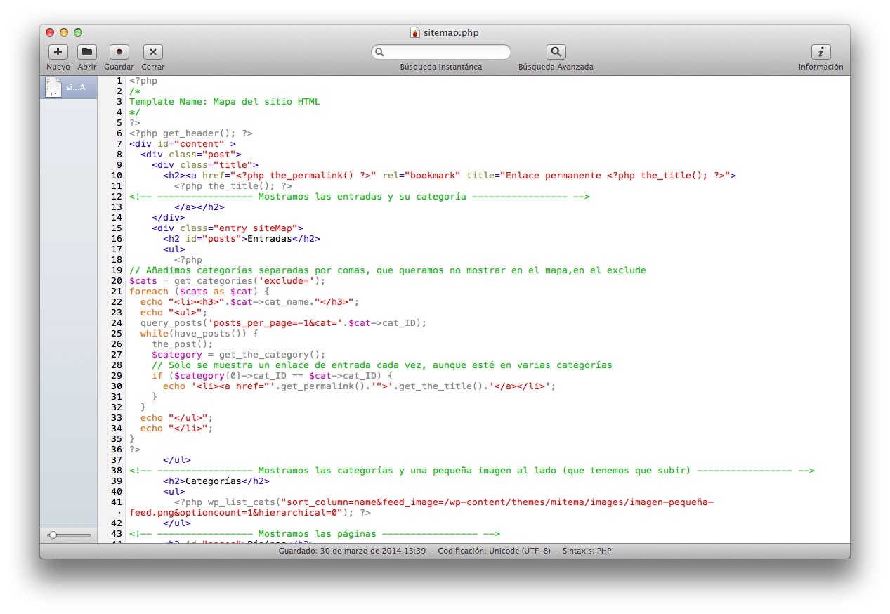 Sitemap HTML en WordPress