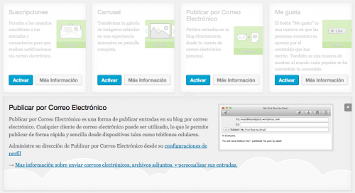 publicar correo electronico jetpack