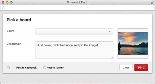 ventana emergente para compartir imagenes wordpress en pinterest