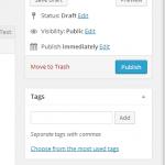 captura de editor wordpress sin caja para elegir categoría