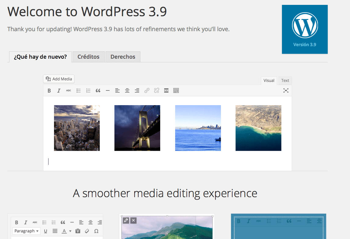 WordPress 3.9 RC2
