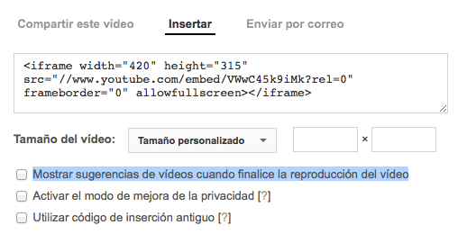 quitar videos relacionados youtube en wordpress