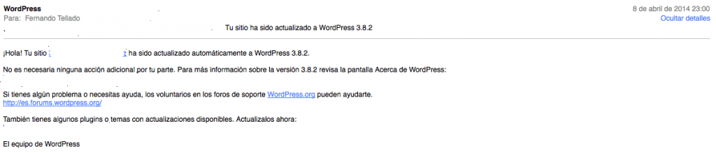 wordpress 3.8.3 actualizado