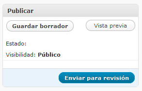 enviar para revision wordpress