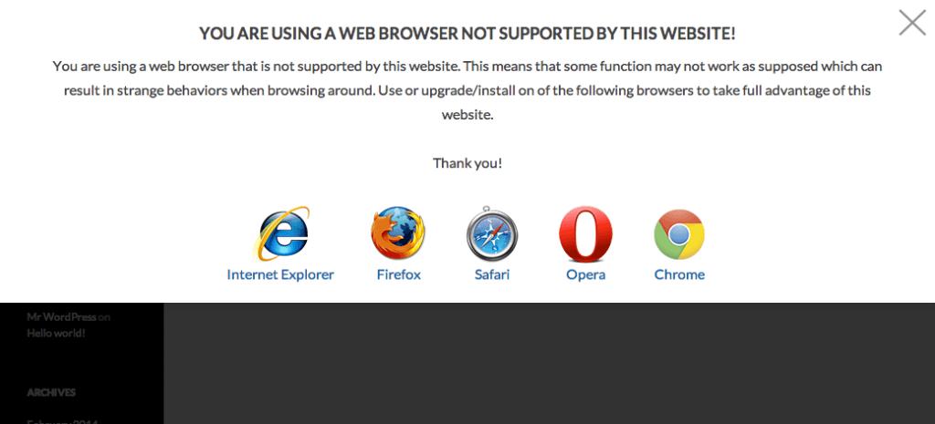 aviso navegador obsoleto