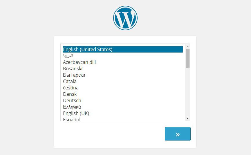 Así será la selección de idioma en la instalación de WordPress 4.0