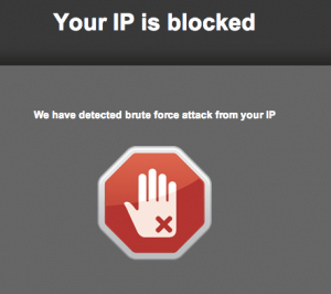 ip bloqueada wordpress