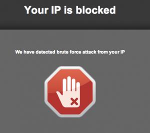 ip bloqueada wordpress