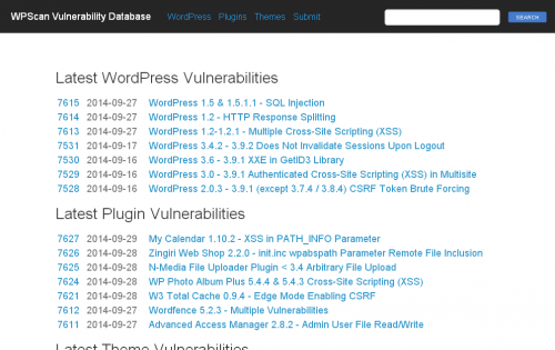 WPScan Vulnerability Database