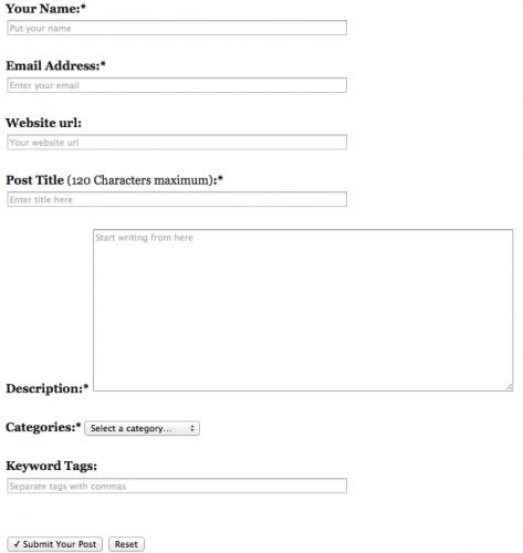 formulario wordpress envio articulos invitados